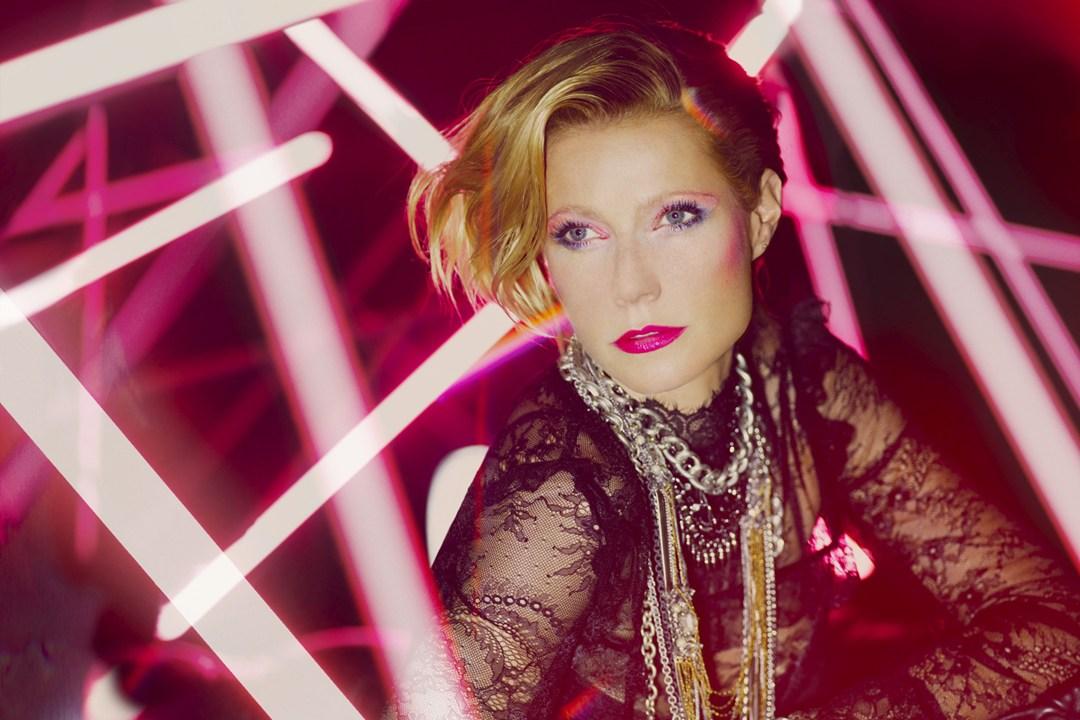 Gwyneth Paltrow como Madonna na campanha da Max Factor