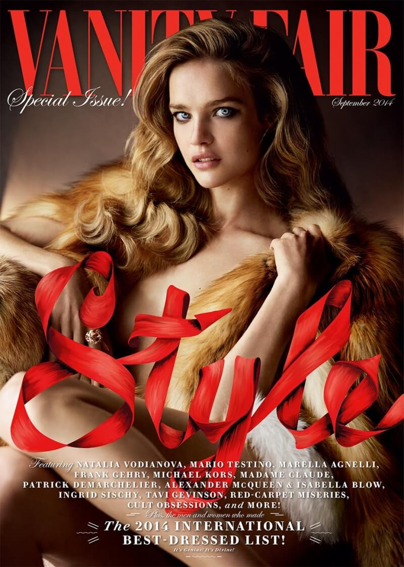 Vanity Fair September 2014 cover com Natalia Vodianova