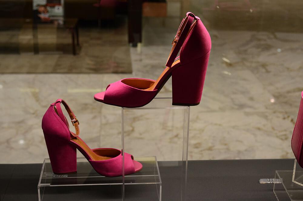 Lançamento da coleção de Verão 2015 da Arezzo em Curitiba - Sandália pink