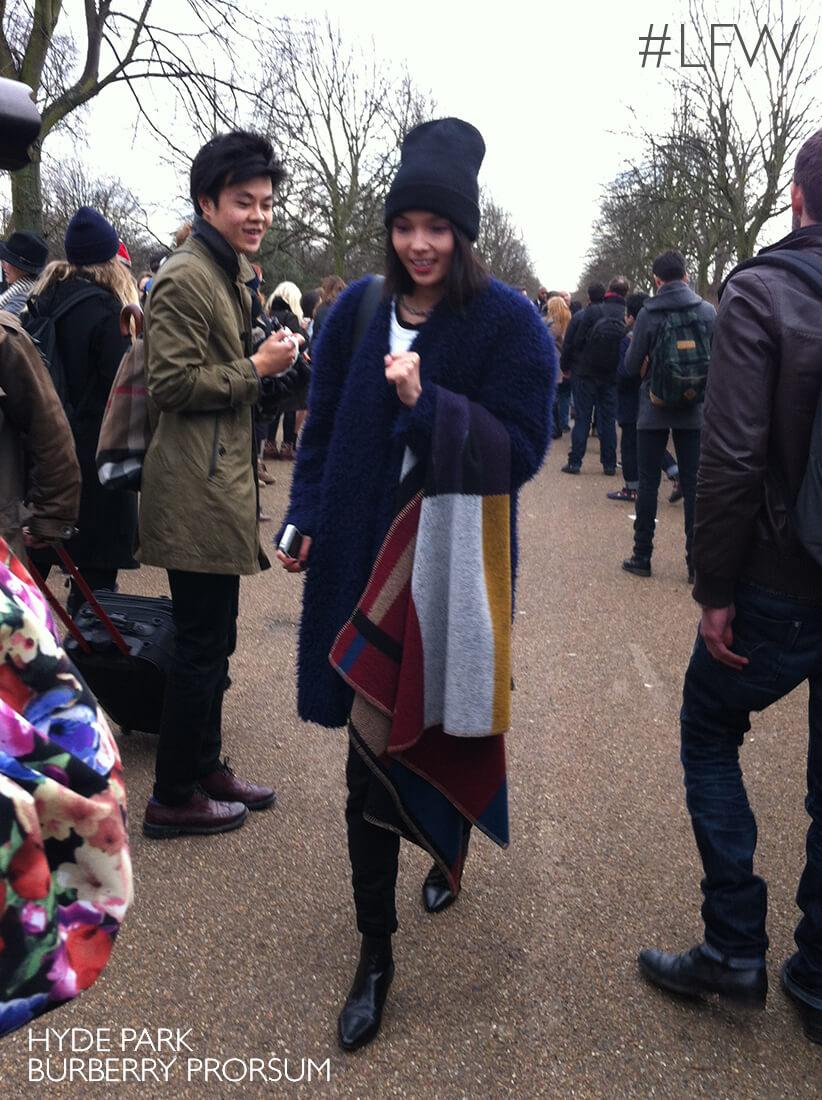 Desfile da Burberry Prorsum no Hyde Park em Londres, LFW A/W 2014.15.