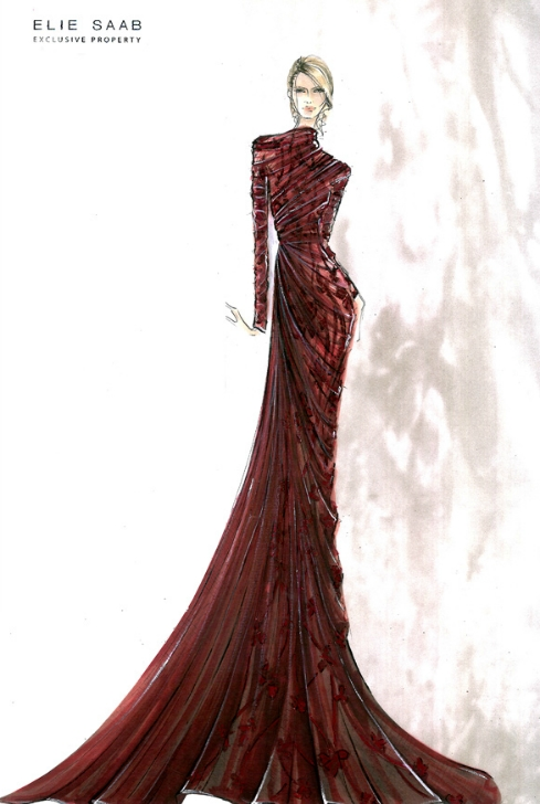 Croquis de moda – Elie Saab