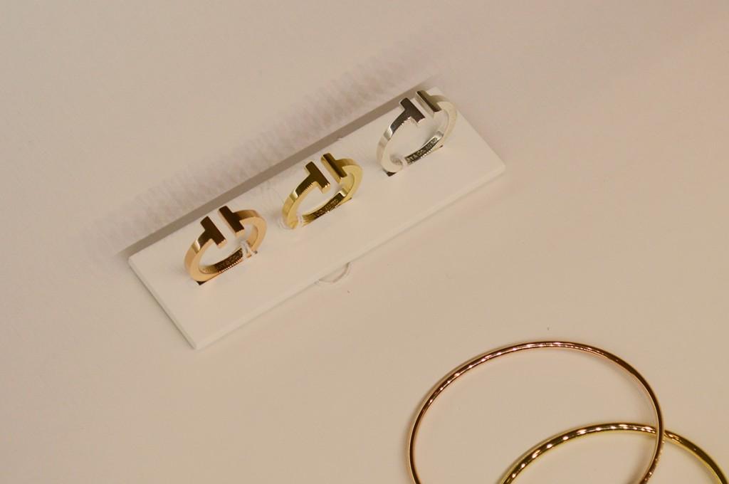 Anéis da coleção Tiffany T