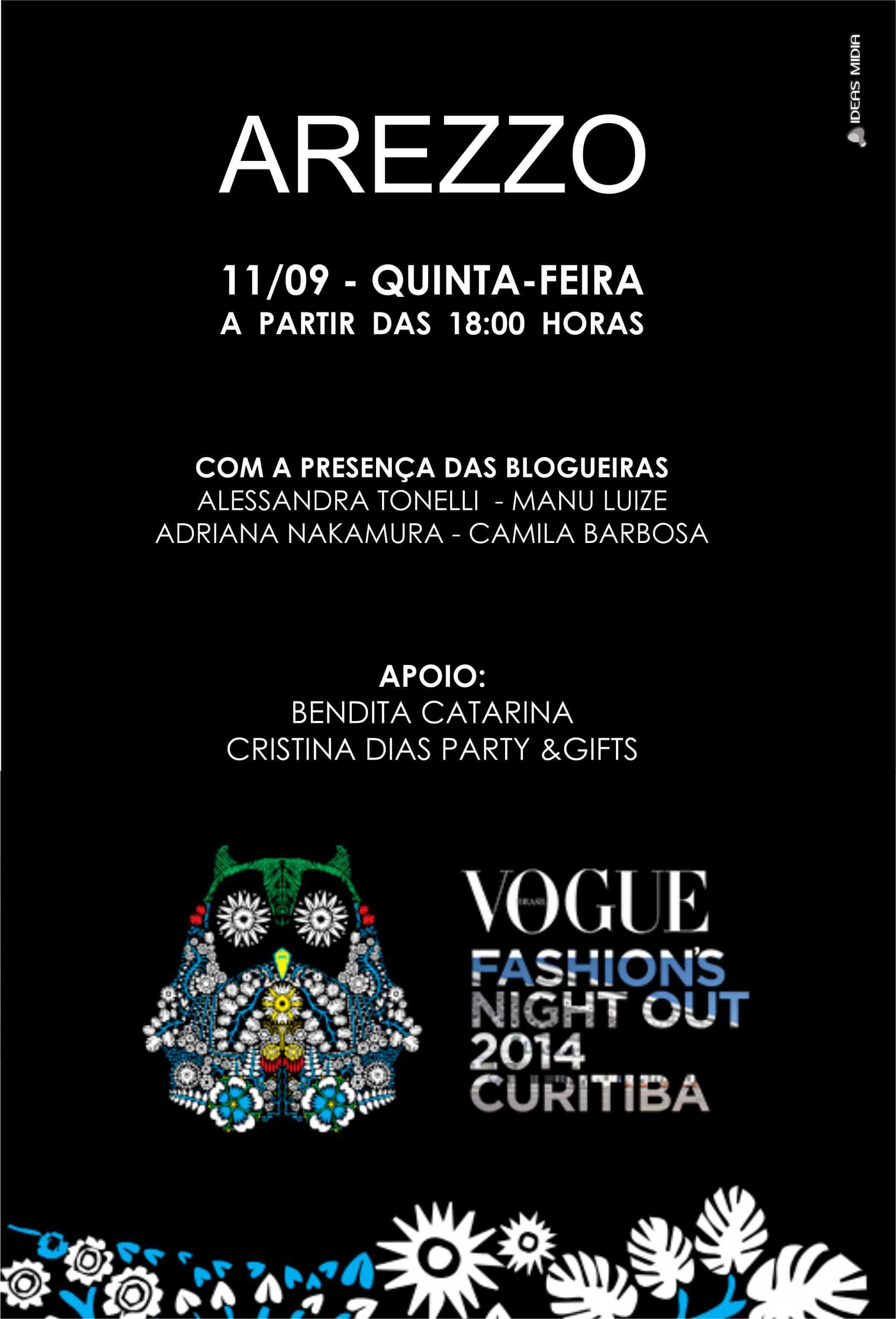 Convite Oficial - Arezzo Curitiba - Shopping Mueller - FNO