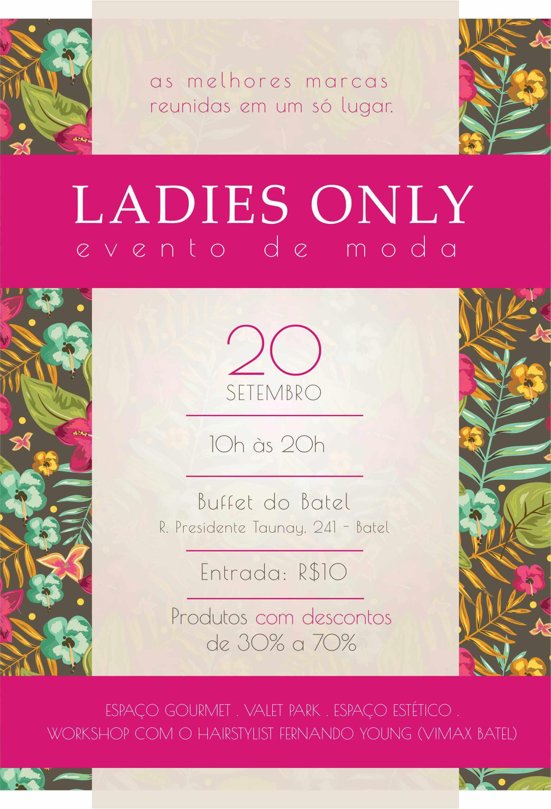 Convite: Ladies Only evento de moda em Curitiba traz marcas com até 70% de desconto