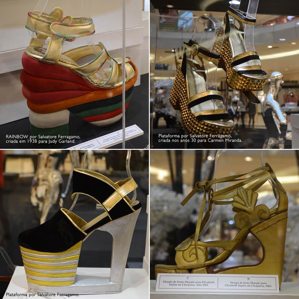 """Destaques da exposição """"A História do Sapato"""" no ParkShopping Barigüi em Curitiba"""