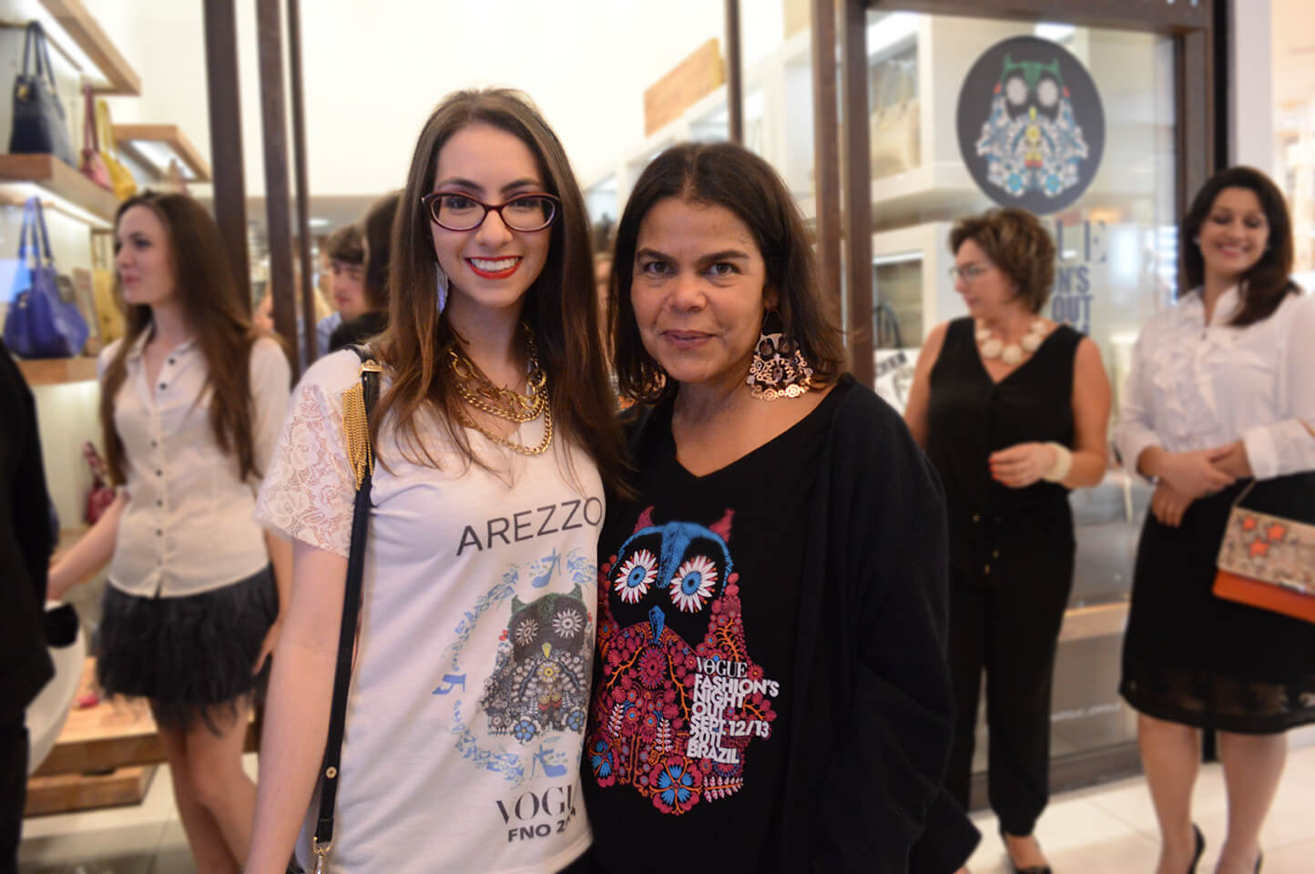 Com Daniela Falcão, diretora de redação da Vogue Brasil durante o VFNO 2014.