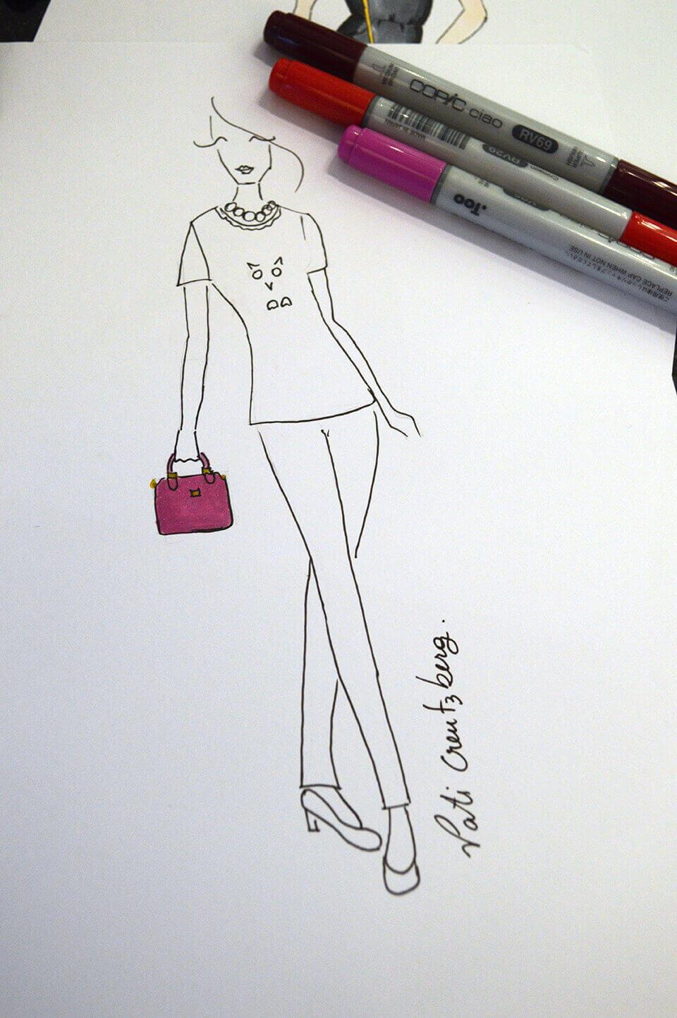 Croqui de moda no VFNO 2014