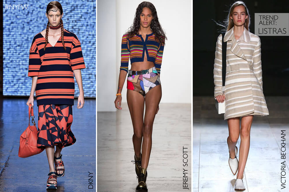 Estampa-tendência: Listras para a Primavera/Verão 2015 internacional