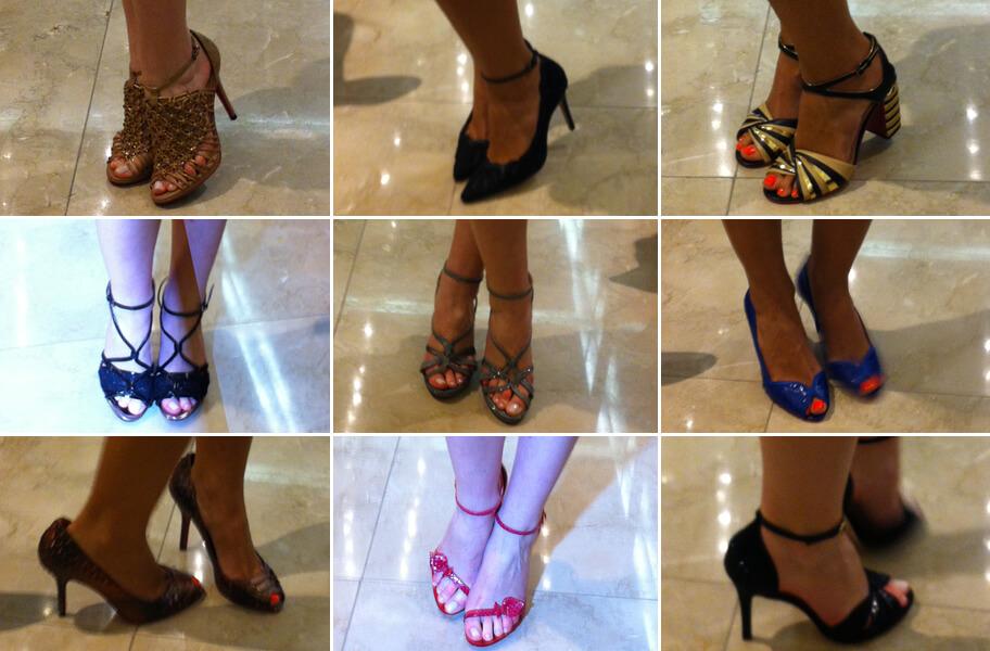 Desfile de sapatos Zeferino na loja Flavia Sidoli - Verão 2015