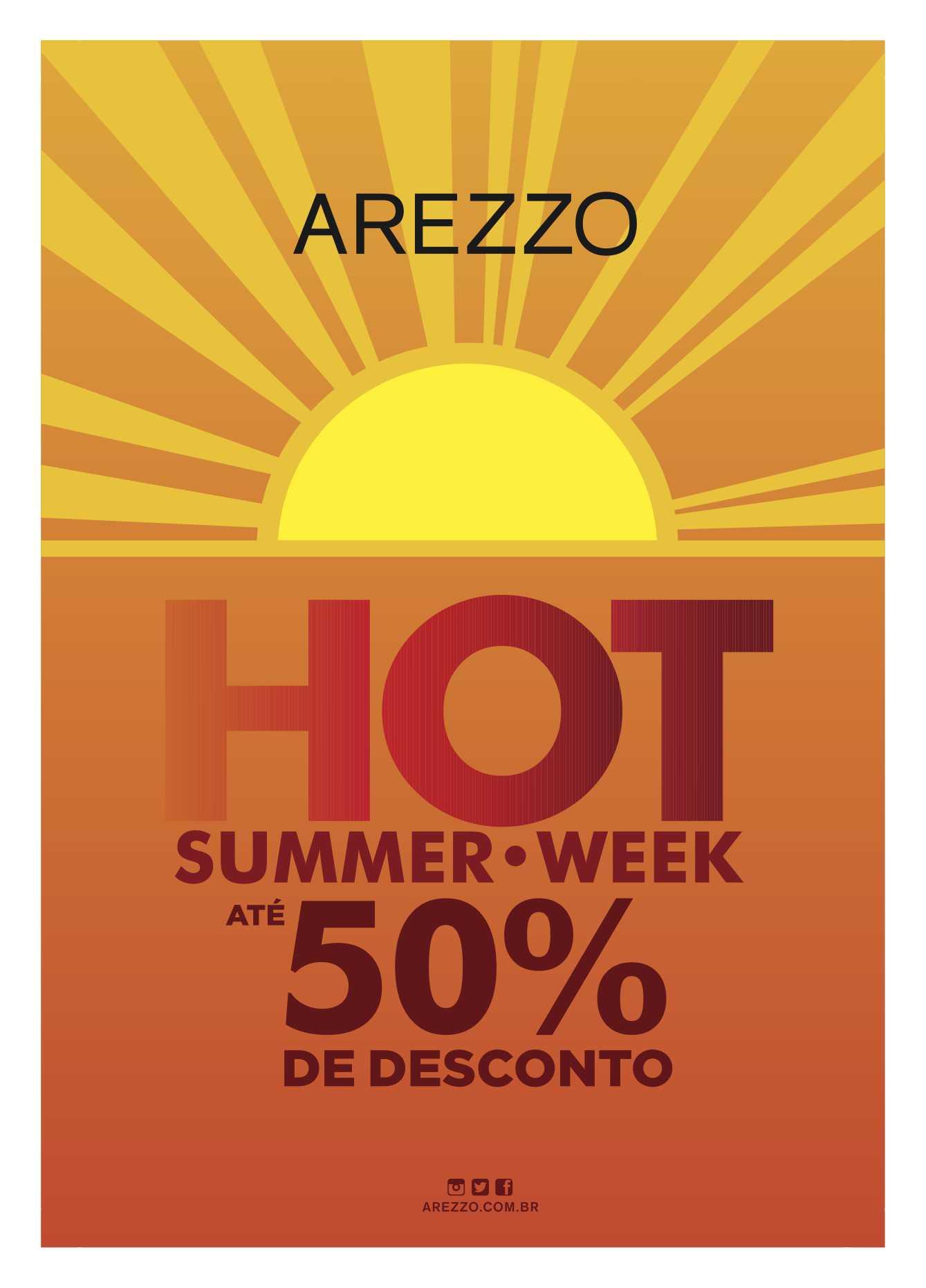 Descontos de até 50% nas lojas Arezzo em Curitiba