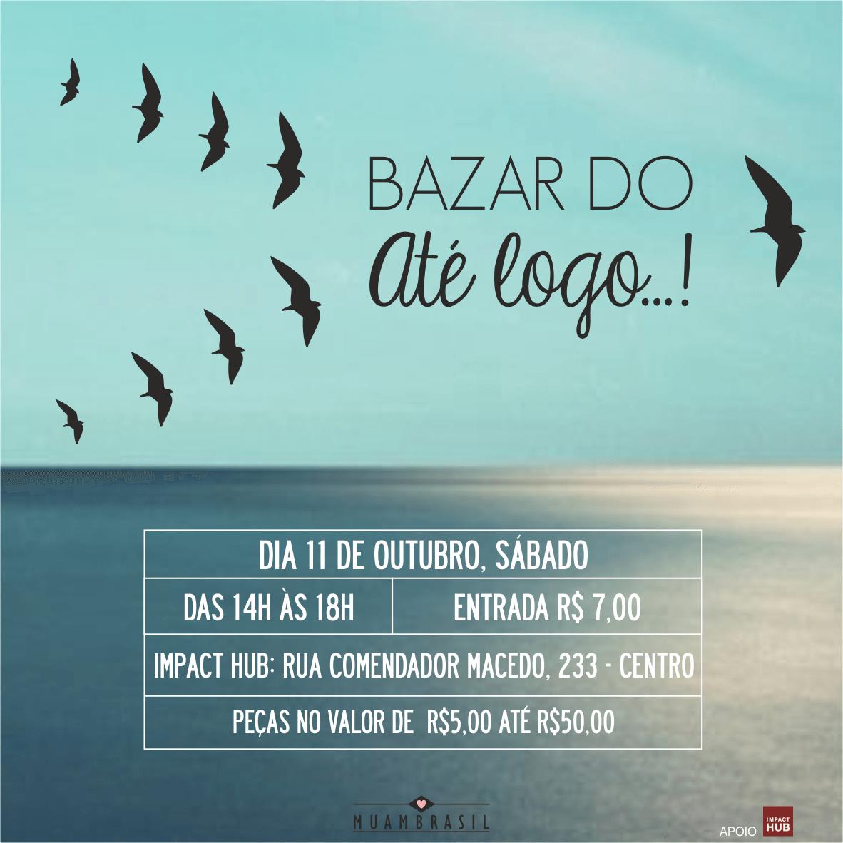 Muambrasil realiza último bazar em outubro em Curitiba