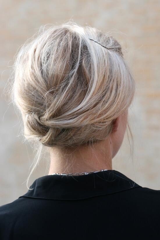Penteado preso para cabelo curto