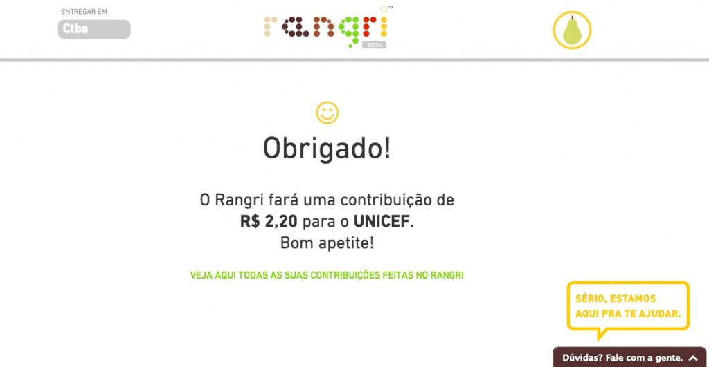 Rangri: delivery em Curitiba que faz doações a instituições de combate à fome.