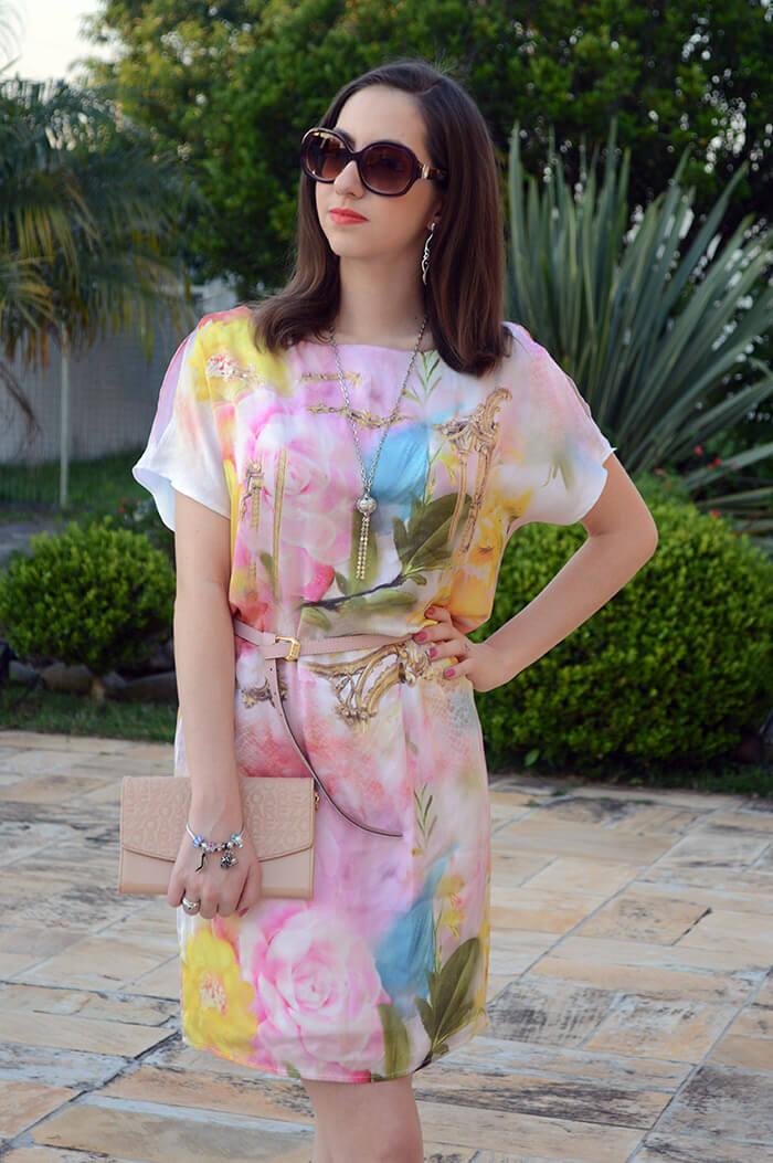 Vestido floral da Dimy