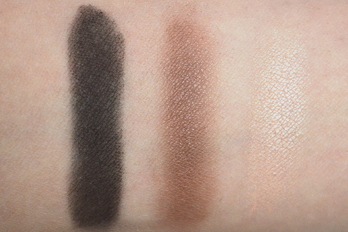 Swatch na pele das sombras Color Attraction Bronze Divino da Eudora.