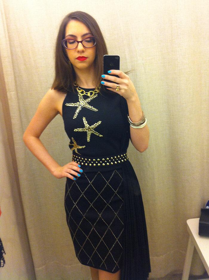 Vestido preto Versace for Riachuelo