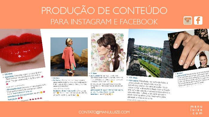 Produção de Conteúdo para Instagram e Facebook de lojas