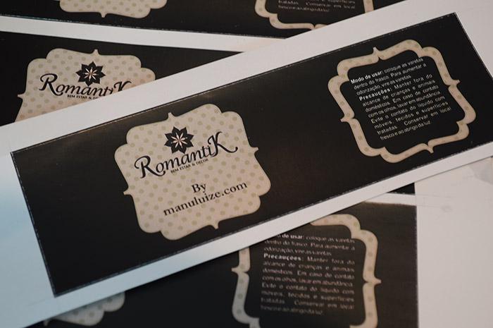Difusor de ambientes personalizado na Romantik em Curitiba