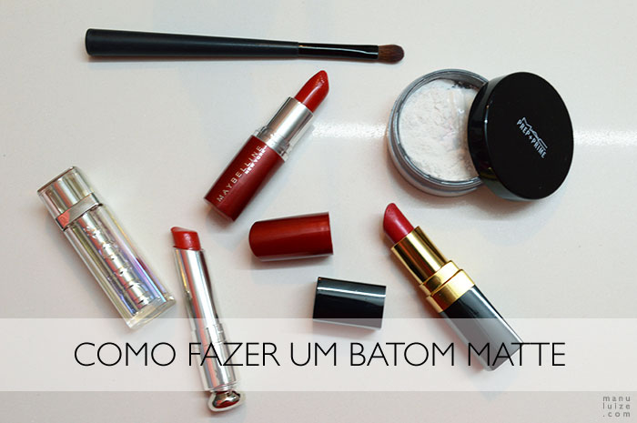 Tutorial de maquiagem: Como fazer um batom cremoso virar um batom matte