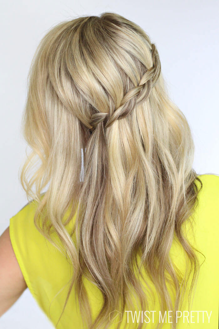 Penteado com trança embutida (dutch braid)