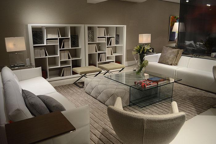 Decoração de Sala: sala de estar com nichos