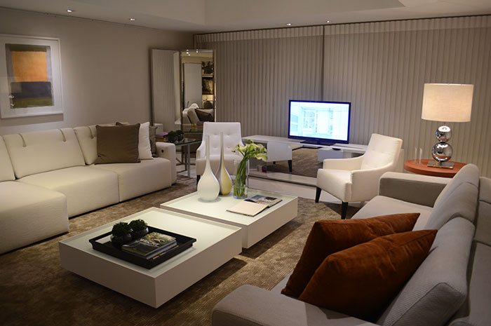 Decora o de sala de estar living room manu luize for Sala de estar lujosa