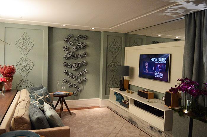 Sala de TV cosy e arrumadinha