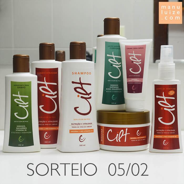 Sorteio de cosméticos da Cilt