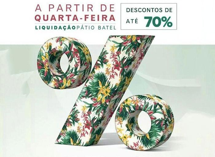Liquidação de Verão no Pátio Batel em Curitiba