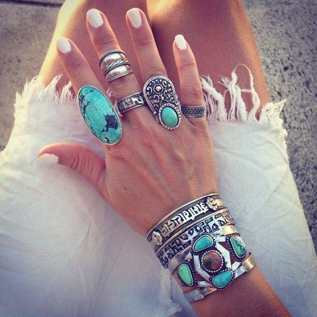 Lulean: Mix de anéis Boho Chic