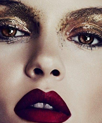 Maquiagem olhos dourados
