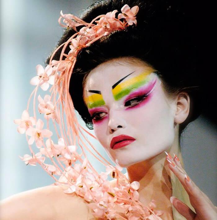 Maquiagem do desfile da Dior