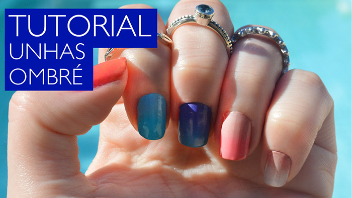 Tutorial de Unhas Decoradas em degradê / Ombré Nails