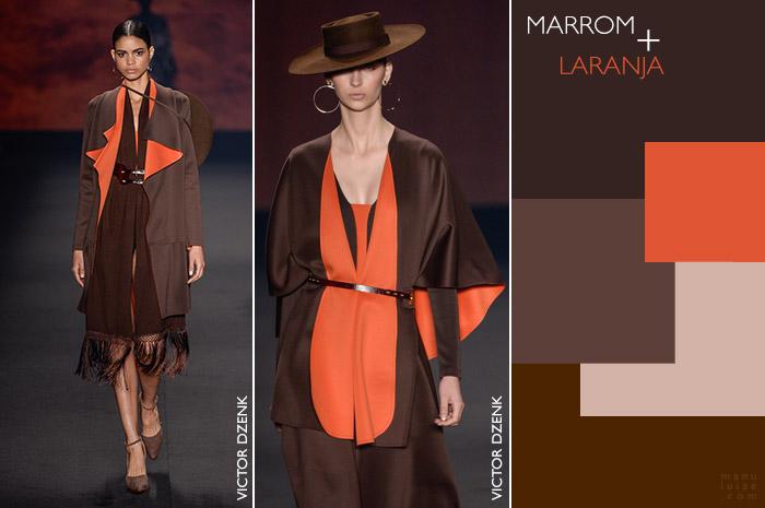 Como usar marrom: Marrom com laranja