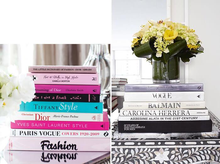 Livros para decorar a escrivaninha