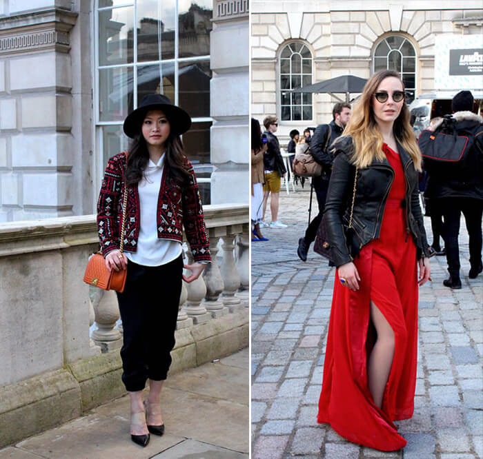 Looks em Vermelho: Street Style - London Fashion Week