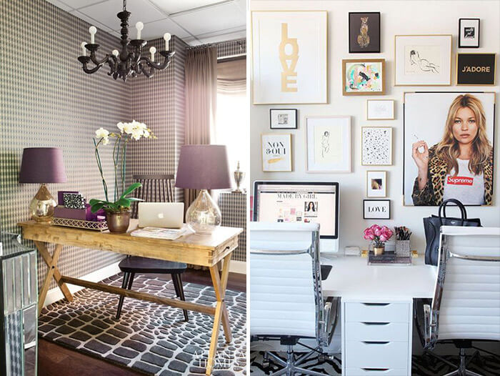 decora o de home office escrit rio manu luize. Black Bedroom Furniture Sets. Home Design Ideas