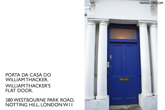 Endereço da casa de William Thacker em Notting Hill