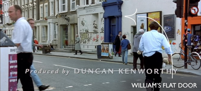 "William's Flat door ""Notting Hill"""