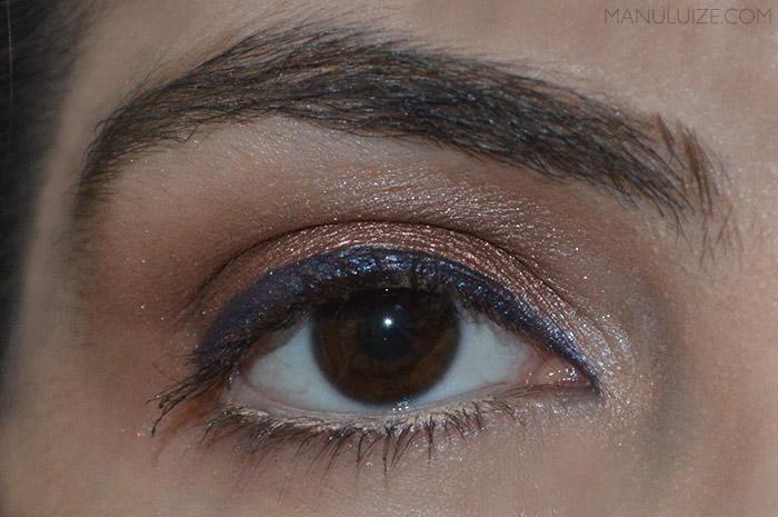 Maquiagem com o lápis Azuluxo da QDB