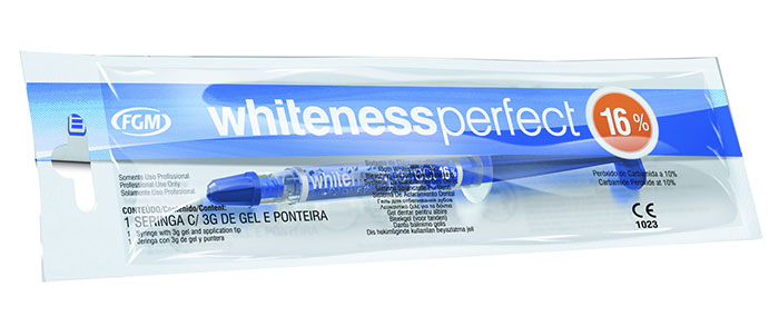 Gel branqueador Whiteness Perfect 16%