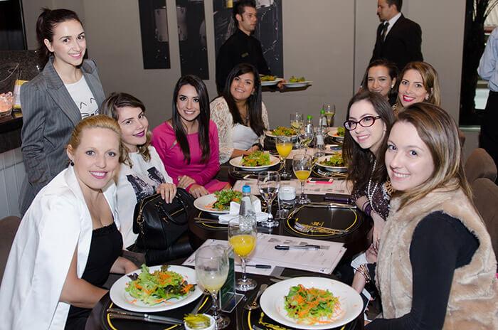 No almoço da coletiva de imprensa da Vitaclin em Curitiba