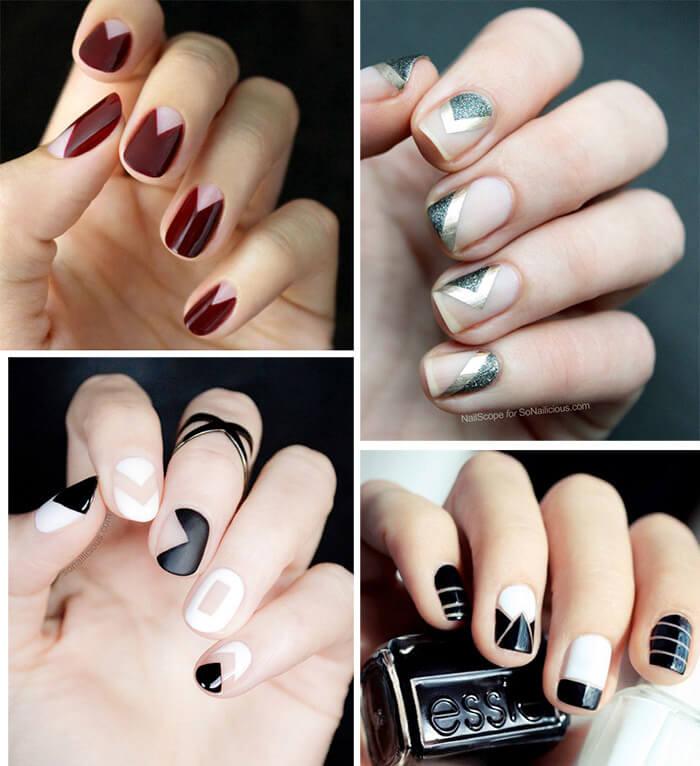Unhas decoradas: Manicure negativa (negative space nails)