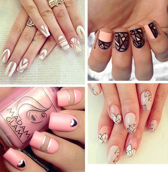 Negative nails: unhas decoradas em manicure negativa