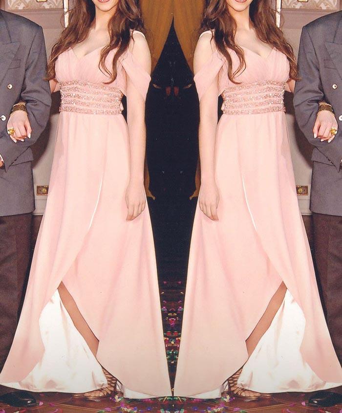 Vestido de formatura rosa blush - Manu Luize