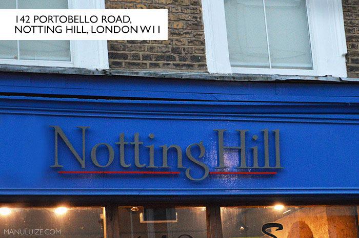 Loja Notting Hill - filme em Londres