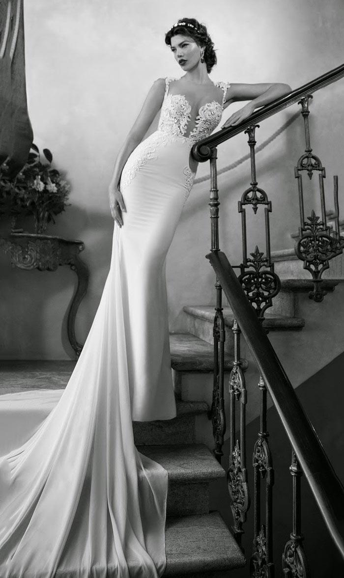 Noiva com cauda longa