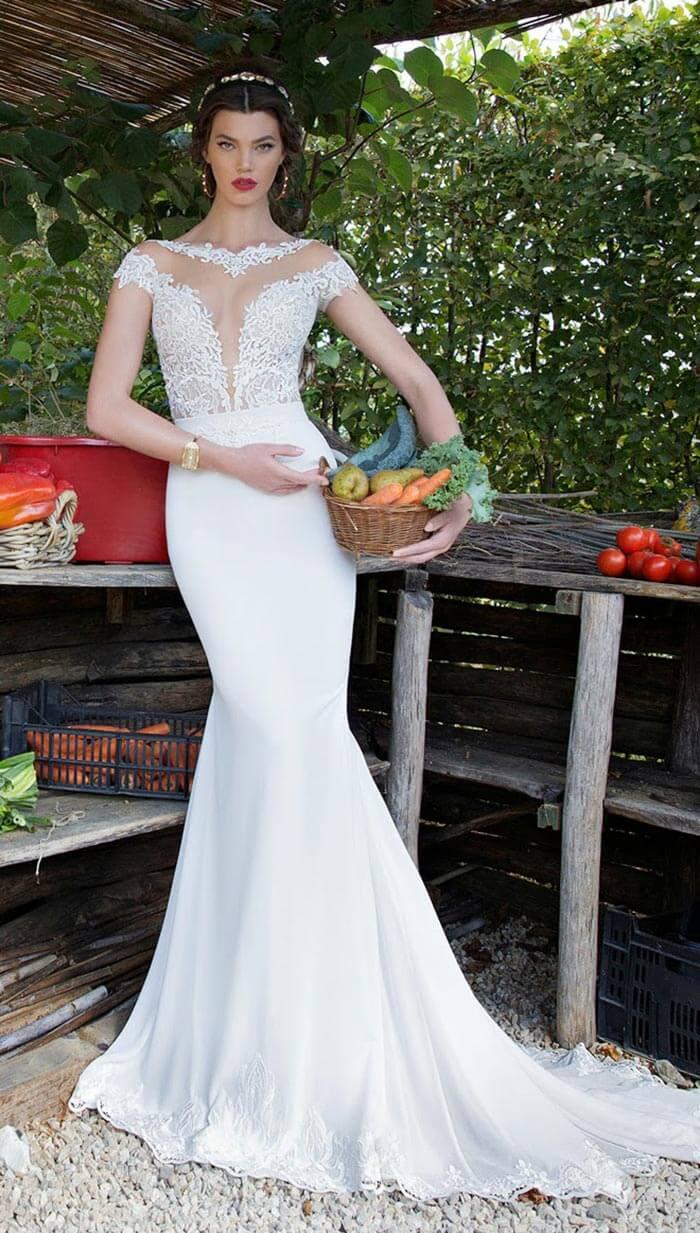 Vestido de noiva sereia com decote