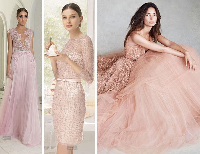 Vestidos rosa claro para festa