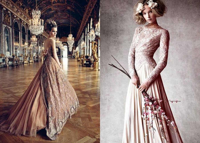 Vestidos rosa blush - editoriais